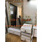 آینه و کنسول قدی چوبی