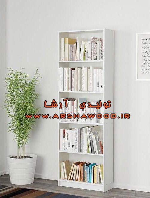 عکس کتابخانه ساده چوبی