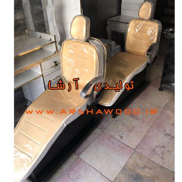 عکس صندلی آرایشگاهی طلایی